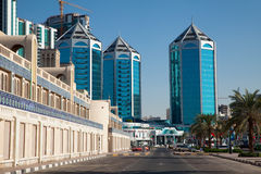 Crystal Plaza Sharjah Royaltyfri Fotografi