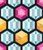 Crystal polygons vector seamless pattern Royalty Free Stock Image