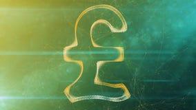 Crystal Pound Sign i kaki- cyberspace Royaltyfri Bild