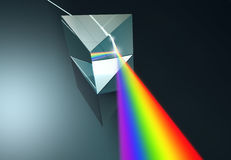 Crystal Prism. The crystal prism disperses white light into many colors Stock Image