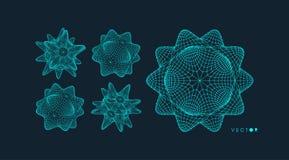 crystal Przedmiot z związanymi liniami i kropkami Cząsteczkowa siatka 3d technologii futurystyczny styl dla chemii i nauki ilustracji