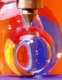 crystal punkt för bollar under Royaltyfri Bild