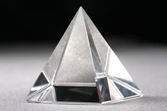 Crystal Pyramid Royalty Free Stock Photography
