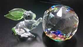 Crystal and Rabbit glass miniature Stock Photos