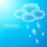 Crystal rainy cloud abstract background Royalty Free Stock Photography