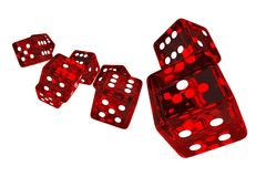 Crystal Red Casino Dices Fotografia Stock