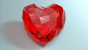 Crystal red heart. Stock Photography