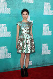 Crystal Reed arriving at the 2012 MTV Movie Awards Royalty Free Stock Image