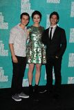 Crystal Reed, Tyler Posey, Dylan O'Brien at the 2012 MTV Movie Awards Press Room, Gibson Amphitheater, Universal City, CA. 06-03-12 royalty free stock images