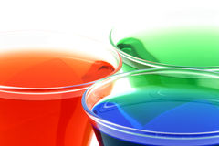 Crystal rgb drinks Royalty Free Stock Photos