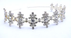 Crystal Rhinestone Tiara. A silver tiara with white crystal rhinestones Stock Images
