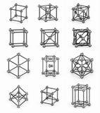 crystal riktningsspheres för gallermarkörred Arkivfoto