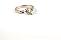 Crystal ring isolated over white stock photography