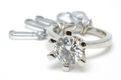 Crystal ring keychain Royalty Free Stock Images