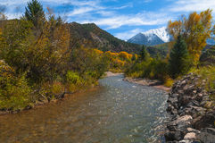 Crystal River Colorado Fall Colors Image libre de droits
