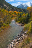 Crystal River Colorado Fall Colors Stock Photos