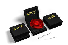 Crystal Rose for 2007. 2007 new year eve welcome message. This is a 3d renderec picture Royalty Free Stock Image