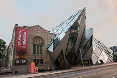 The Crystal in the Royal Ontario Museum, Toronto stock photo