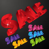 Crystal Sale Icons Royalty Free Stock Photography