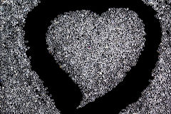 The crystal scatter heart shape Stock Photography