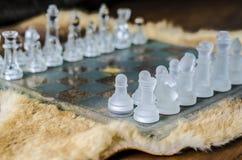 Crystal schack på filten arkivbilder