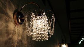 Crystal sconce Royalty Free Stock Photos