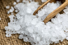 Crystal sea salt Stock Photos