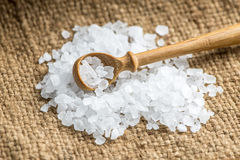 Crystal sea salt Royalty Free Stock Photography