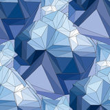 Crystal. Seamless 3D Geometric background. Geometric seamless background. Crystal Abstract 3D polygonal pattern Stock Image