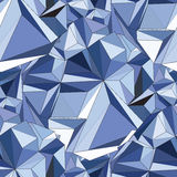 Crystal. Seamless 3D Geometric background. Geometric seamless background. Crystal Abstract 3D polygonal pattern Royalty Free Stock Image