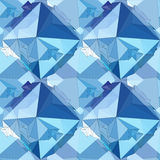 Crystal. Seamless 3D Geometric background. Geometric seamless background. Crystal Abstract 3D polygonal pattern Royalty Free Stock Photography