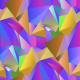 Crystal Seamless Pattern coloré Images stock
