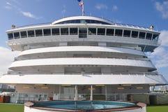 Crystal Serenity cruise ship crew area open deck Stock Photos