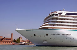 Crystal Serenity luxury cruise ship Royalty Free Stock Image