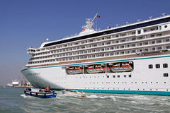 Crystal Serenity luxury cruise ship Stock Images