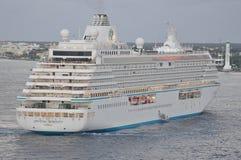 Crystal Serenity luxury cruise ship sailing Stock Image