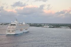 Crystal Serenity luxury cruise ship sailing Royalty Free Stock Images