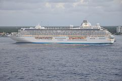Crystal Serenity luxury cruise ship sailing Stock Photography