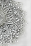 Crystal serving dish in vertical position. Layered crystal serving dish with vertical perspective royalty free stock photo