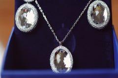 Crystal Set av smycken Arkivfoto