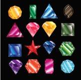 Crystal set. vector illustration