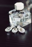 Crystal Set y Parfume Imagen de archivo libre de regalías