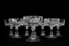 Crystal sherbet glasses Stock Photography