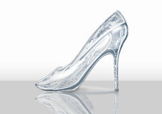 Crystal shoe Royalty Free Stock Image