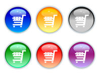 Crystal shop cart icons Stock Image