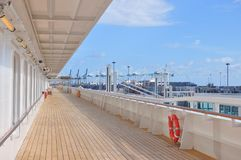 Crystal Simphony cruise ship open deck Royalty Free Stock Photography