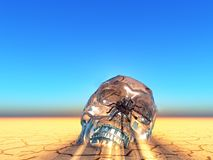 Crystal skull Royalty Free Stock Images