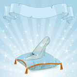Crystal slipper background Stock Images