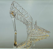 Crystal slipper is reflected Royalty Free Stock Image