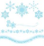 crystal snow vektor illustrationer